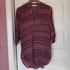 3/4 sleeve tunic blouse